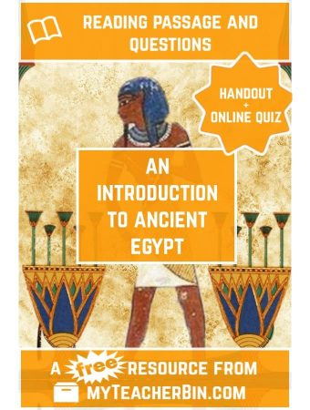 An Introduction to Ancient Egypt: FREE Handout and Online Quiz
