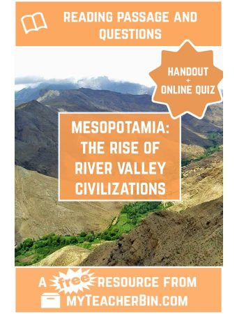 Mesopotamia: The Rise of River Valley Civilizations – A FREE Reading Passage and Online Quiz