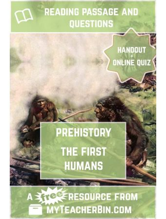 The First Humans – A FREE Prehistory Reading Passage and Online Quiz