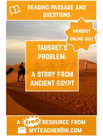 Tausret's Problem: An Ancient Egypt Story – FREE Handout and Online Quiz