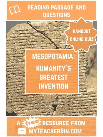 Humanity's Greatest Invention – A FREE Reading Passage and Online Quiz