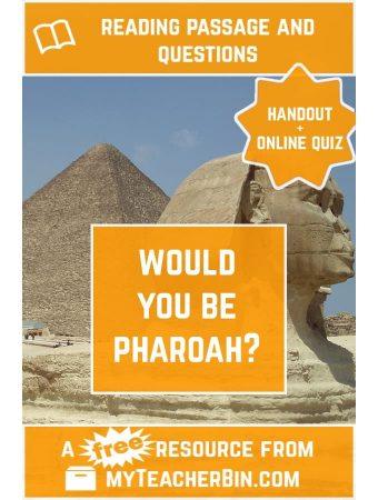 Would You Be Pharaoh? A FREE Handout and Online Quiz