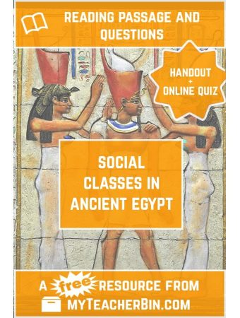 Social Classes in Ancient Egypt: A FREE Handout and Online Quiz