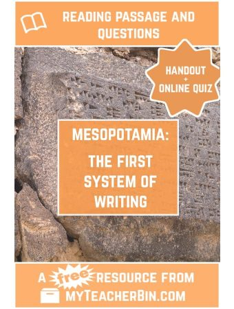 The First System of Writing – A FREE Reading Passage and Online Quiz
