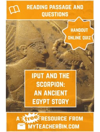 Iput and the Scorpion: A Story about Egyptian Religion – FREE Handout and Online Quiz