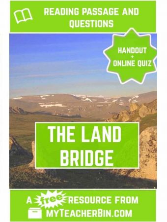 The Land Bridge: A Free Native Americans Reading Passage
