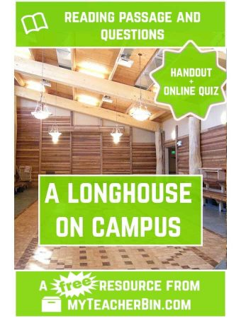 A Longhouse on Campus: A Social Studies Reading Comprehension Passage