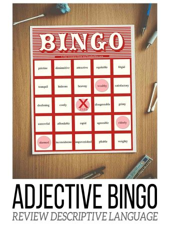 Adjective Bingo: Build Descriptive Vocabulary!