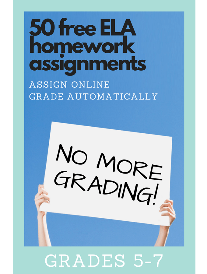 50 Free ELA Homework Assignments