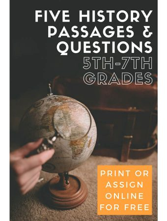 Five History Passages for Grades 5-7