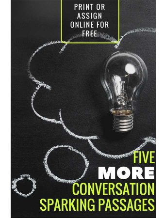 Five More Conversation-Sparking Passages for Grades 5-7