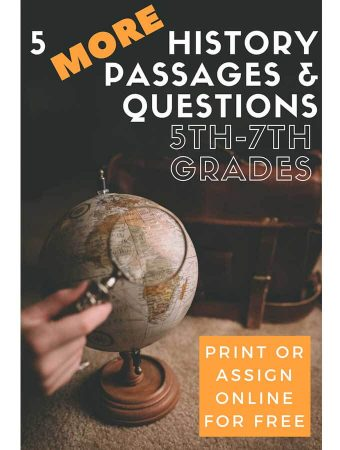 Five More Social Studies Passages for Grades 5-7