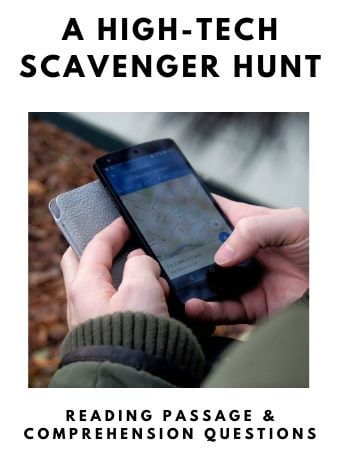 A High Tech Scavenger Hunt: FREE Reading Passage and Comprehension Questions