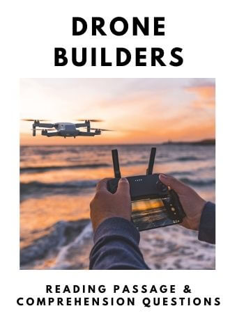 Drone Builders: FREE Reading Passage and Comprehension Questions