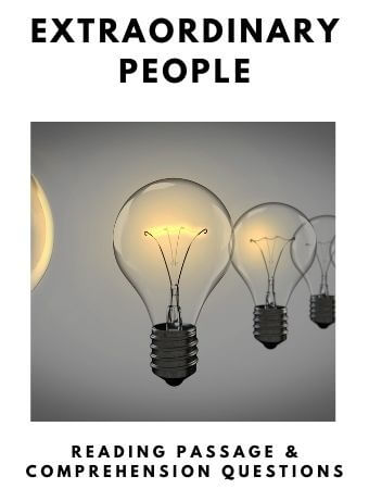 Extraordinary People: FREE Reading Passage and Comprehension Questions