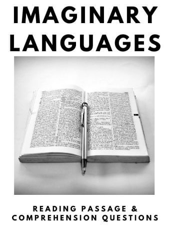Imaginary Languages: FREE Reading Passage and Comprehension Questions