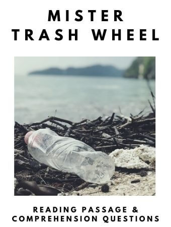 Mister Trash Wheel: FREE Reading Passage and Comprehension Questions