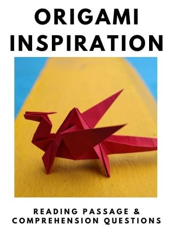 Origami Inspiration: FREE Reading Passage and Comprehension Questions