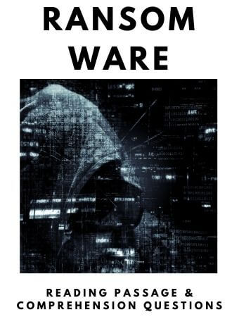 Ransomware: FREE Reading Passage and Comprehension Questions