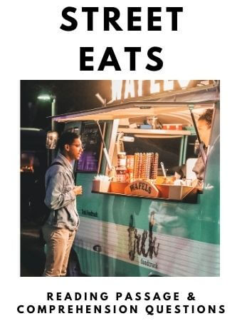 Street Eats: FREE Reading Passage and Comprehension Questions