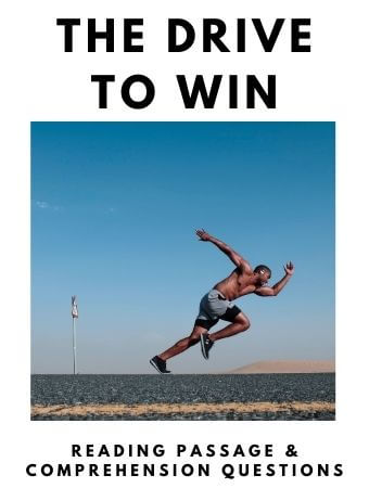 The Drive to Win: FREE Reading Passage and Comprehension Questions