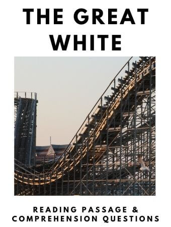 The Great White: FREE Reading Passage and Comprehension Questions